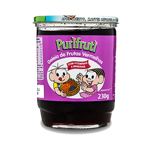 Geleia sabor Frutas Vermelhas Turma da Mônica 230g Homemade pote UN