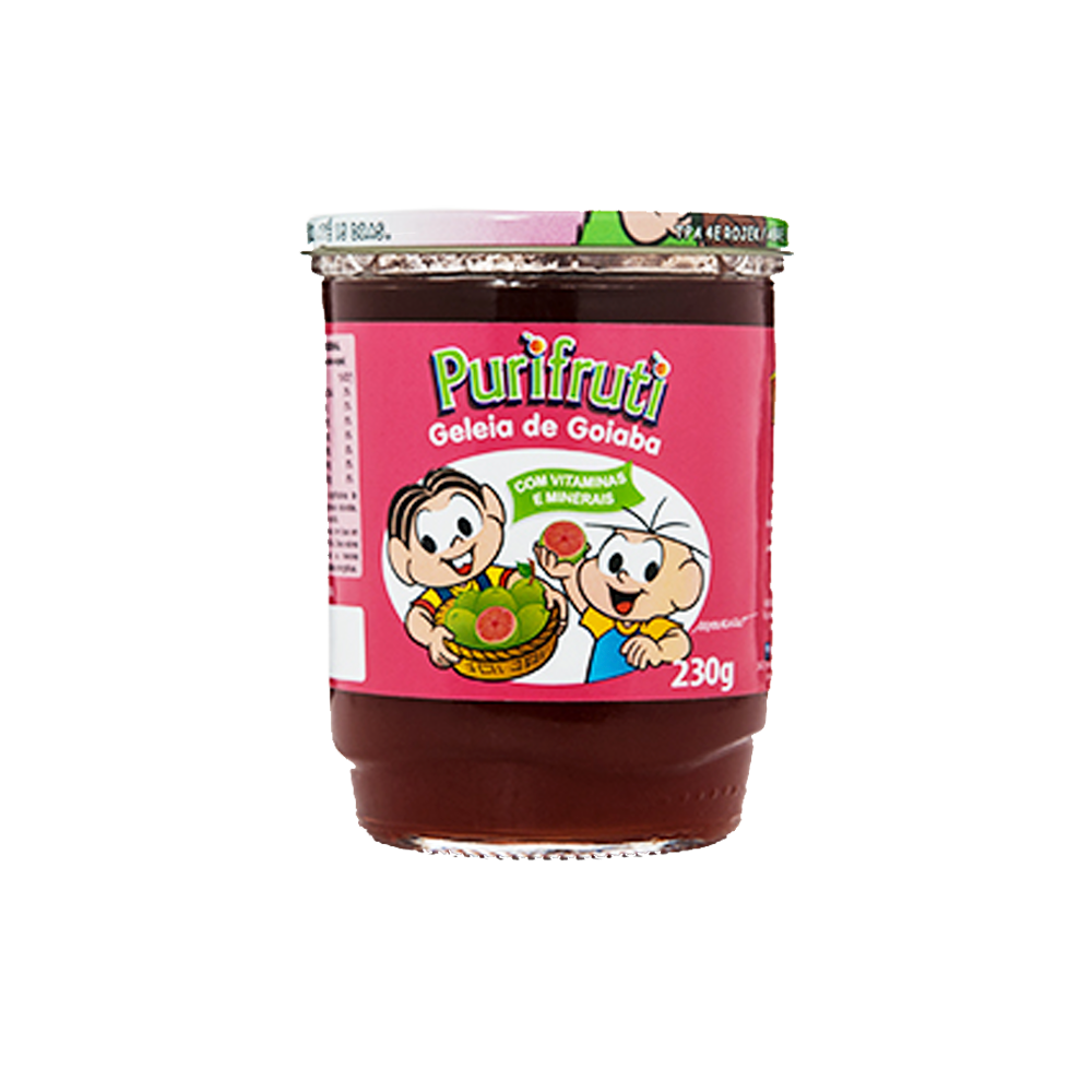 Geleia sabor Goiaba turma da mônica 230g Purifruti pote UN