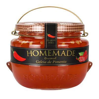 Geleia sabor Pimenta Dedo de Moça 320g Homemade pote UN
