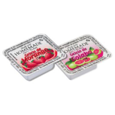 Geleia sabores sortidos diet unidades de 15g Homemade blister UN