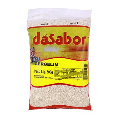 Gergelim branco 500g DáSabor pacote PCT