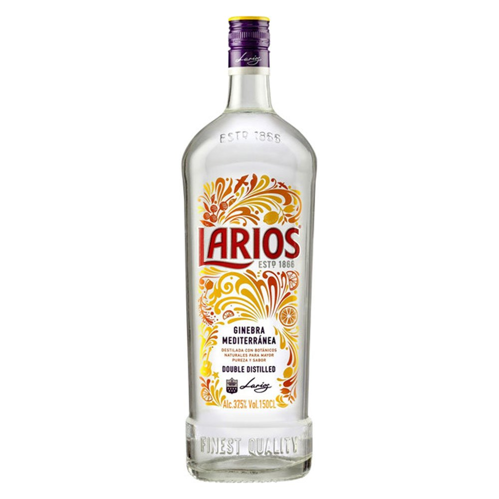 Gin London Dry Ginebra Mediterránea 700ml Larios garrafa UN