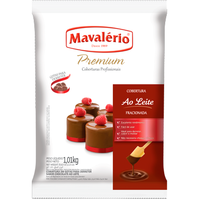 Gotas de Chocolate ao leite 1kg Mavalerio  UN