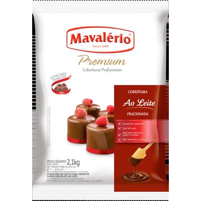 Gotas de Chocolate ao leite 2,1g Mavalerio  UN