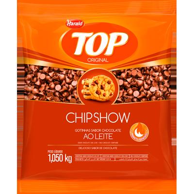 Gotas de Chocolate Chipshow ao leite 1kg Harald pacote PCT