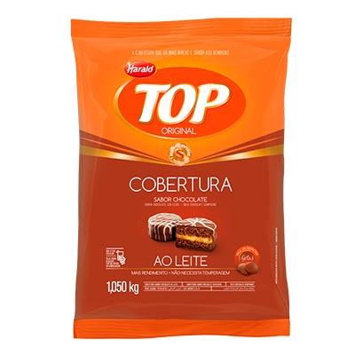 Cobertura de Chocolate Gotinhas ao Leite 1,05kg Harald/Top pacote PCT