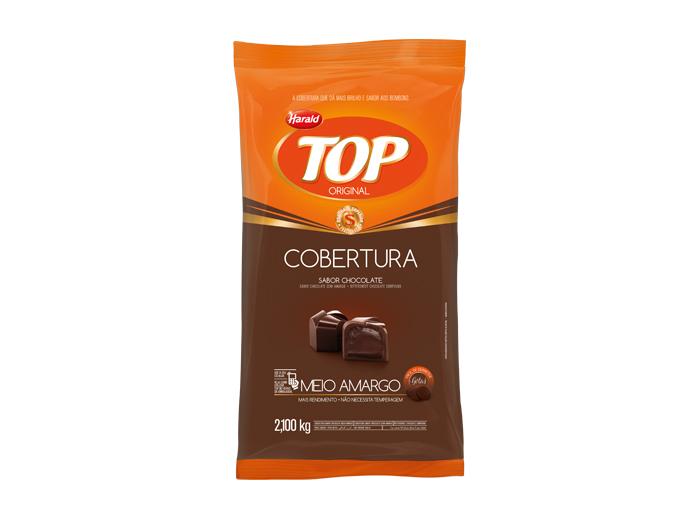 Gotas de Chocolate cobertura meio amargo 2,1kg Harald/Top pacote PCT