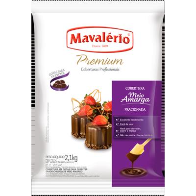 Gotas de Chocolate meio amargo 2,1g Mavalerio  UN