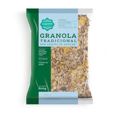 Granola tradicional sem açúcar 800g Alkimia pacote PCT