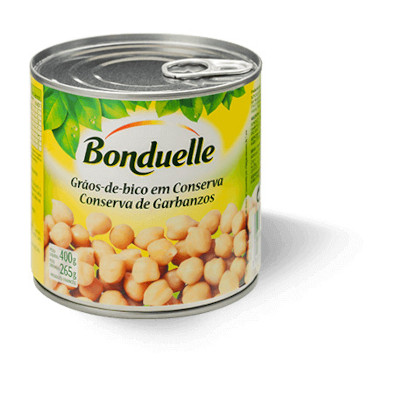 Grão de Bico em Conserva 265g Bonduelle lata UN