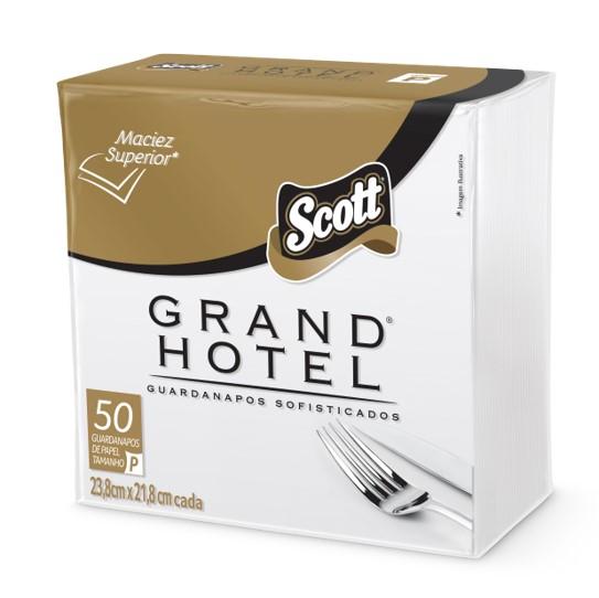 Guardanapo de Papel Folha Dupla 24cm x 24cm 50 unidades Scott/Grand Hotel pacote PCT