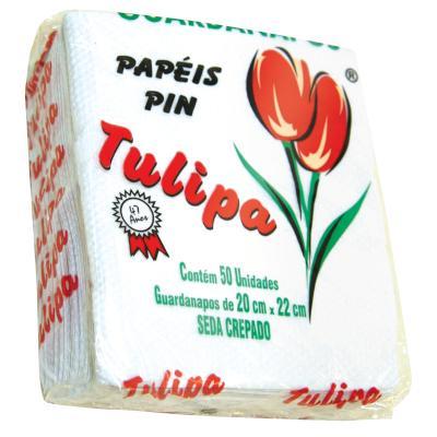 Guardanapo de Papel Folha Simples 20cm x 22cm 50 folhas Tulipa pacote UN