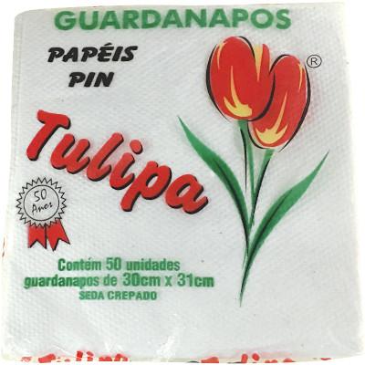 Guardanapo de Papel Folha Simples 30cm x 31cm 50 folhas Tulipa pacote UN