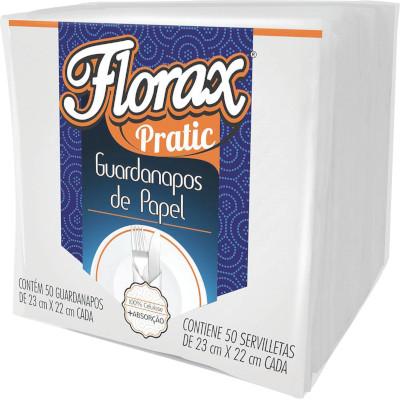 Guardanapo de Papel Pratic 23cm x 22cm 50 folhas  Florax pacote PCT