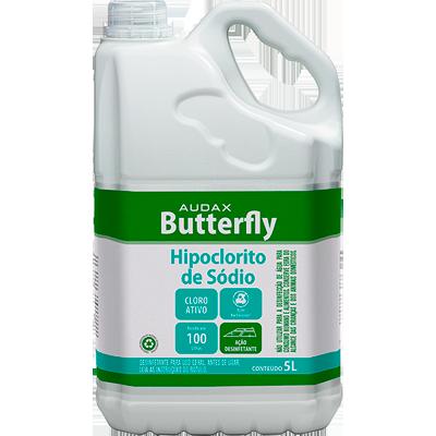 Hipoclorito de Sódio Bactericida 5Litros Audax/Butterfly galão GL