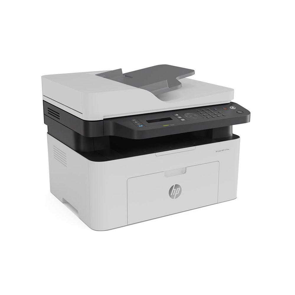Impressora Multifuncional a Laser USB Imprimi Copia Digitaliza e Envia Fax 4ZB84A Branca 110V unidade HP  UN