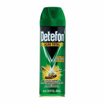 Inseticida aerosol 300ml Detefon Ação Total lata UN