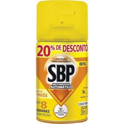 Inseticida com óleo de citronela 20% desconto 250ml SBP Multi automático refil UN