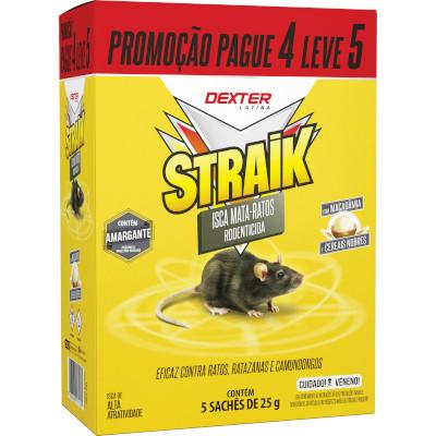 Inseticida Mata Ratos 4 unidades de 25g Straik pacote PCT