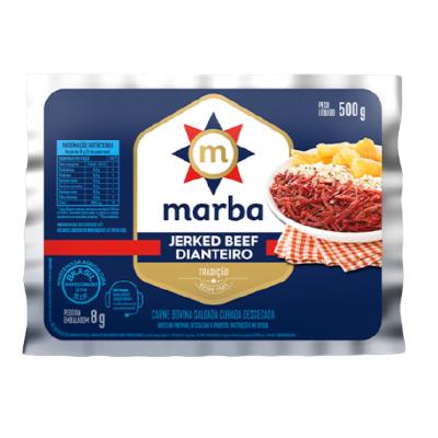 Jerked Beef Dianteiro 500g Marba pacote PCT