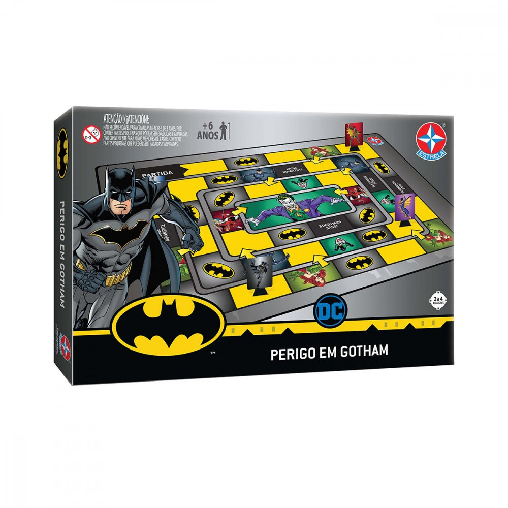 Jogo Batman Perigo em Gotham Preto unidade Estrela  UN