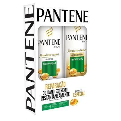 Kit Contém Shampoo 175ml + Condicionador 175ml Restauração unidade Pantene  UN