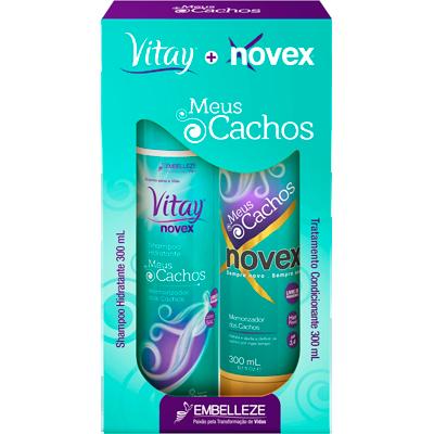 Kit contém Shampoo 300ml e Condicionador 300ml Meus Cachos unidade Novex  UN