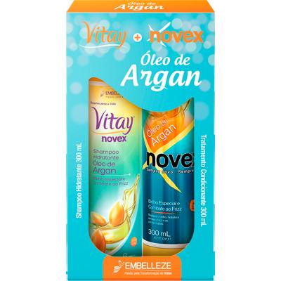Kit Contém Shampoo 300ml e Condicionador 300ml Óleo de Argan unidade Novex  UN