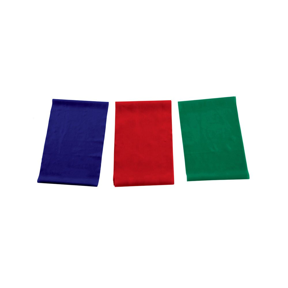Kit Faixa Elástica de Borracha PFTB14 Azul, Vermelho e Verde unidade Proform  UN