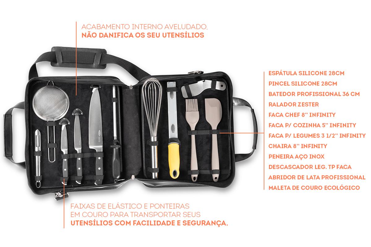 Kit para Chef Infinity  12 Peças Brinox  UN