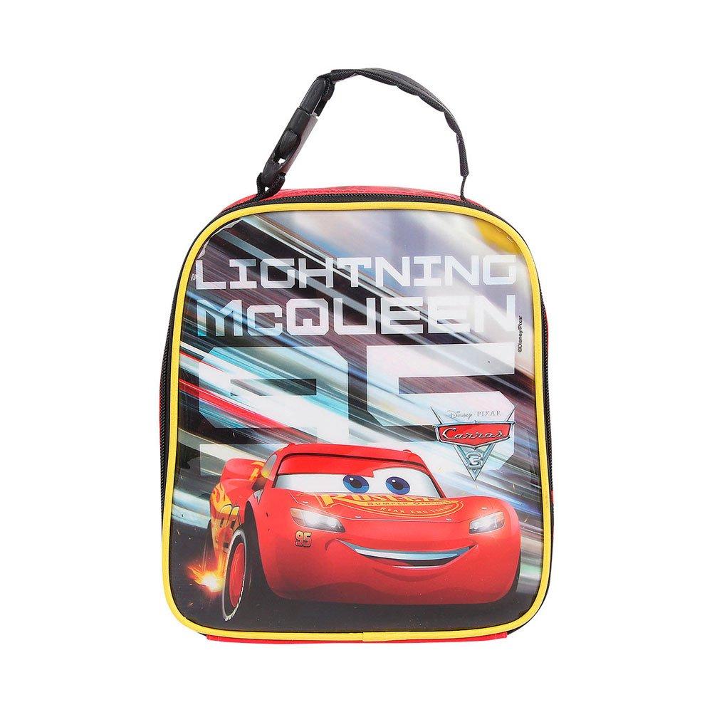 Lancheira Infantil Carros Disney Relâmpago Mcqueen 30071 Vermelha e Preta unidade Dermiwil  UN