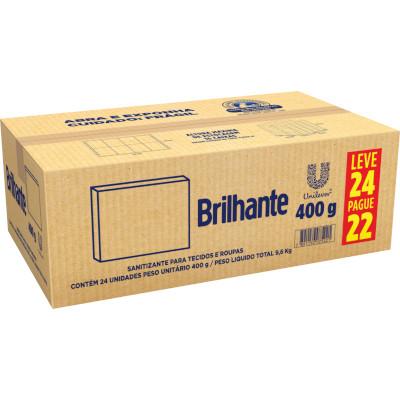 Lava-Roupas em Pó Brancas e Coloridas Limpeza Total 400g Brilhante caixa UN