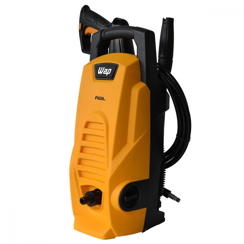 Lavadora de Alta Pressão Uso Residencial 1300 Libras 1400W Mangueira de 3m Amarela e Preta 110v unidade Wap/Ágil  UN