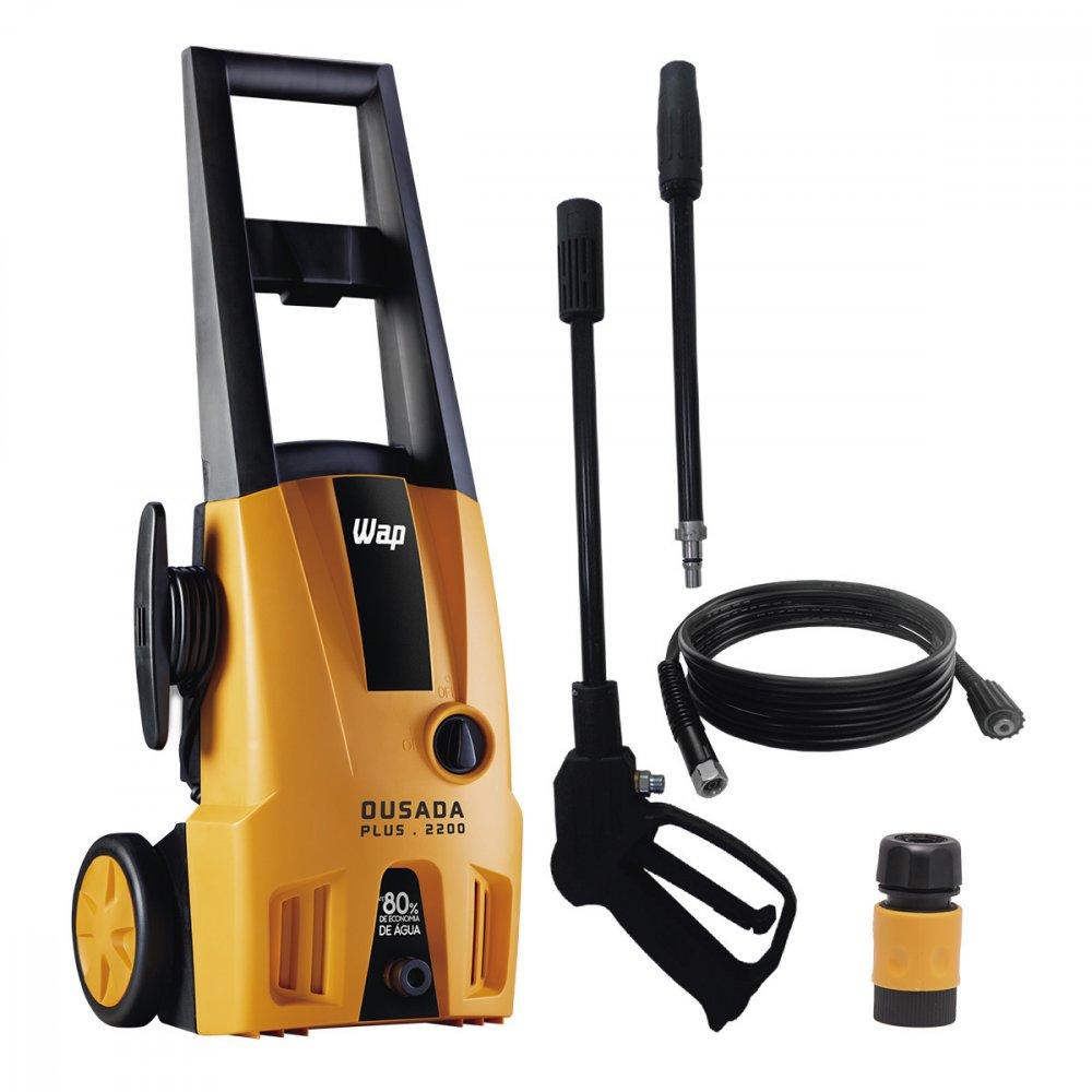 Lavadora de Alta Pressão Uso Residencial Ousada Plus 2200 1750 Libras 1500W Mangueira de 3m Amarela 220v unidade Wap  UN