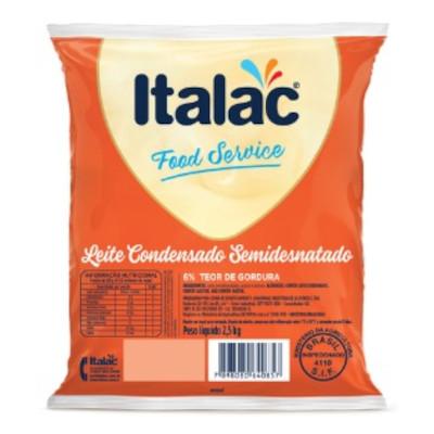 Leite Condensado Semidesnatado 2,5kg Italac bag BAG