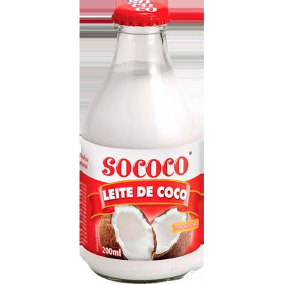 Leite de Coco  200ml Sococo garrafa UN