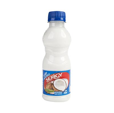 Leite de Coco teor de gordura reduzido 200ml Serigy garrafa UN