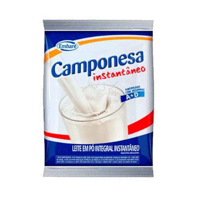 Leite em Pó instantâneo 800g Embaré/Camponesa pacote PCT