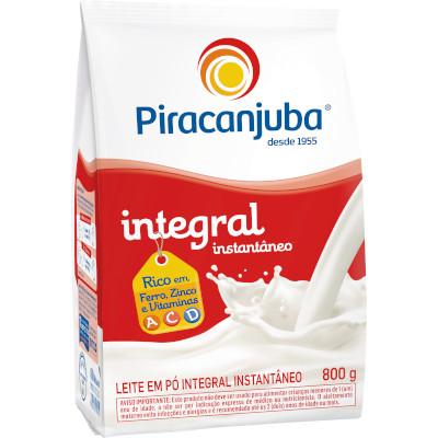 Leite em Pó Integral Instantâneo 800g Piracanjuba pacote PCT