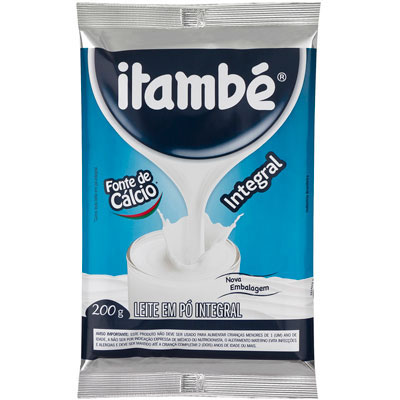 Leite em Pó integral 200g Itambé pacote PCT