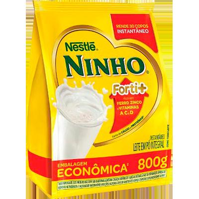 Leite em Pó integral 800g Ninho pacote PCT