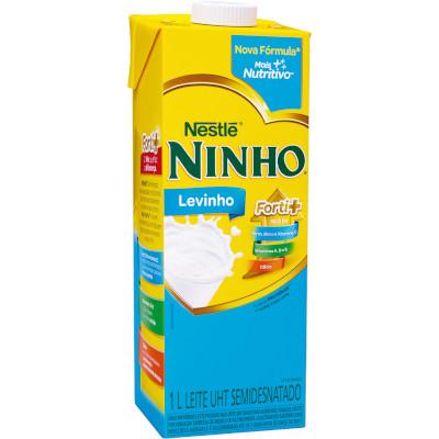 Leite Semidesnatado  1Litro Ninho/Levinho Tetra Pak UN