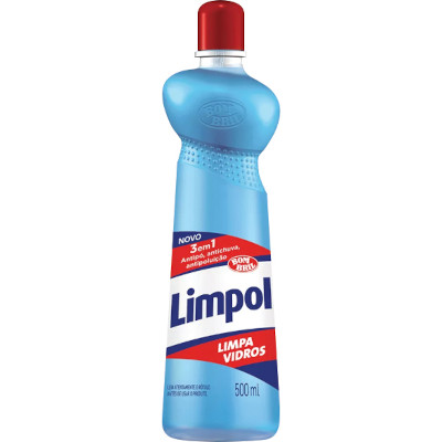 Limpa vidros 3 em 1 500ml Limpol Squeeze UN