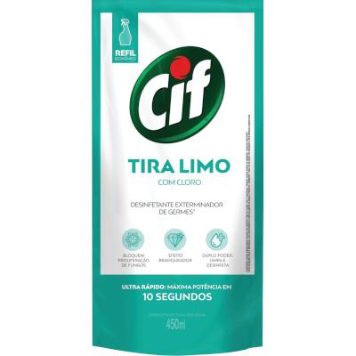 Limpador Multiuso Tira -Limo com Cloro 450ml Cif Ultra Rápido sachê UN