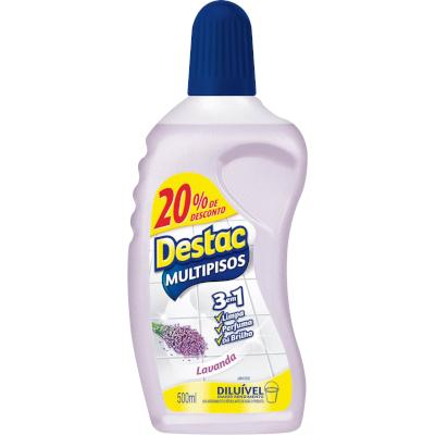 Limpador Perfumado Brisa de Lavanda 20% de desconto 500ml Destac frasco FR