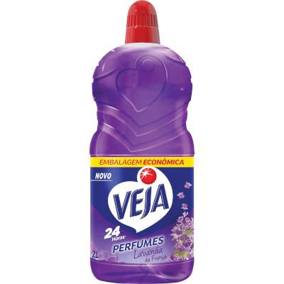Limpador Perfumado Lavanda 30% de desconto 2Litros Veja frasco FR