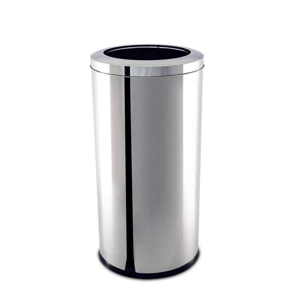 Lixeira  Aço Inox com Aro 40,5 Litros Decorline Ø 30 x 60 cm Brinox  UN