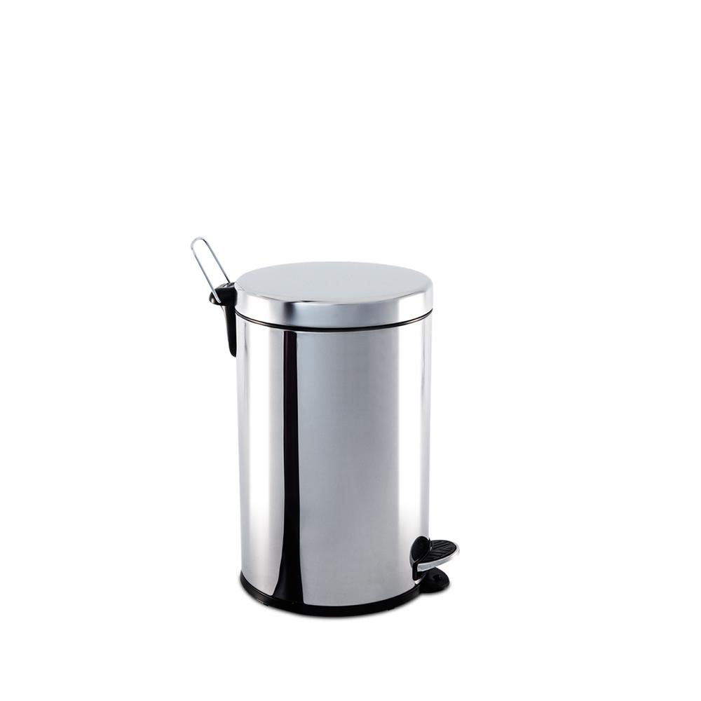 Lixeira  Aço Inox com Pedal e Balde 5 Litros Decorline Ø 20 x 30 cm Brinox  UN