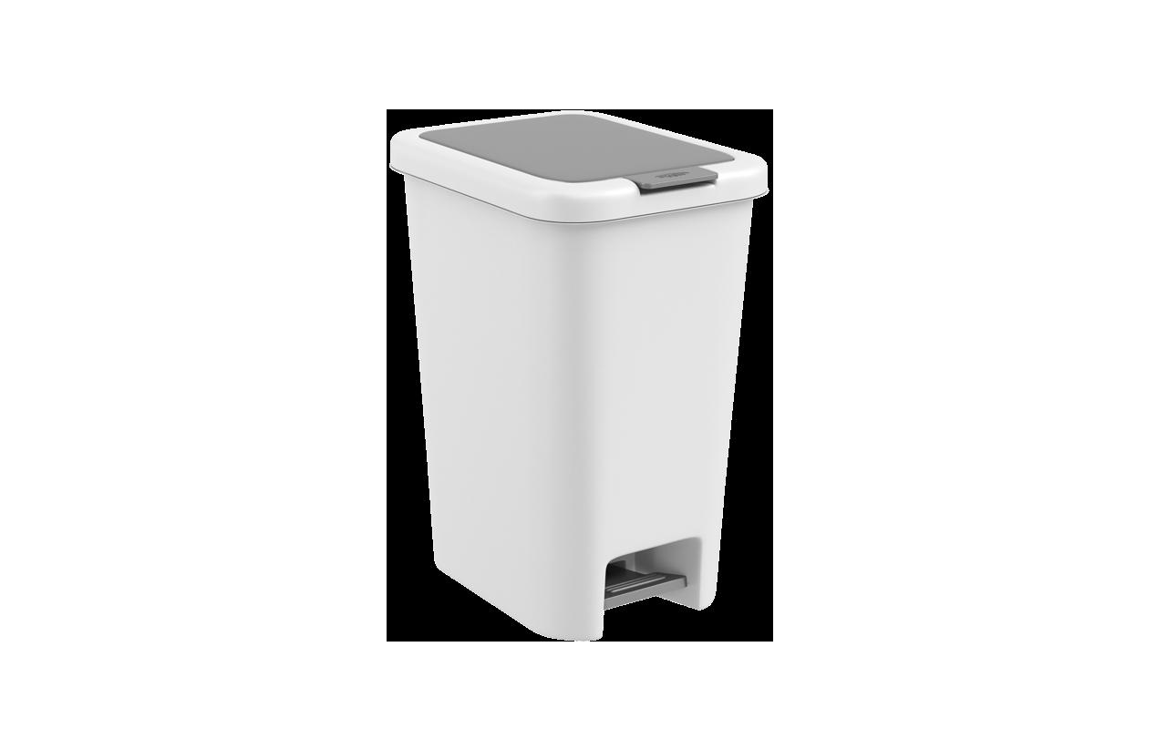 Lixeira  com Pedal Double 20 Litros Branco Polipropileno(PP) 34.2x25x43.5 cm Coza  CX