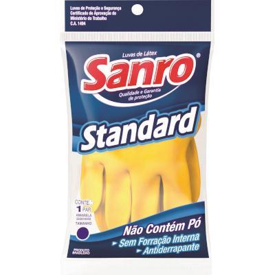 Luva látex amarela multiuso tam. XG com 1 par Standard/Sanro pacote UN